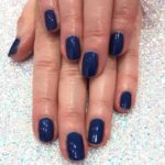 Blue Gelish Manicure