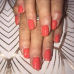 Orange sparkle gelish